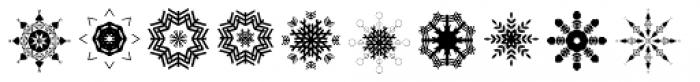 Christmas Flakes Font UPPERCASE