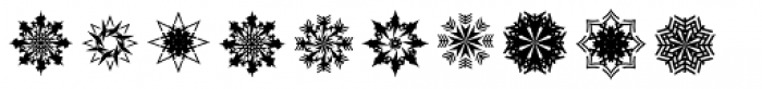 Christmas Flakes Font LOWERCASE