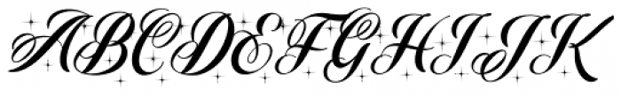 Christmas Sparkle Font UPPERCASE