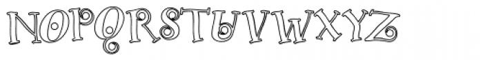 Christy Marie Outline Font UPPERCASE