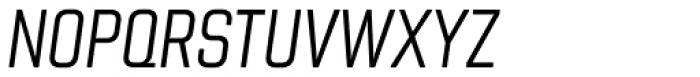 Chromoxome Pro Light Oblique Font UPPERCASE