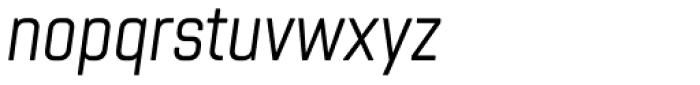 Chromoxome Pro Light Oblique Font LOWERCASE