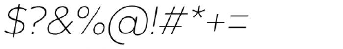Chronica Pro Ultra Light Italic Font OTHER CHARS