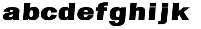 Chubbet Distended Black Italic Font LOWERCASE