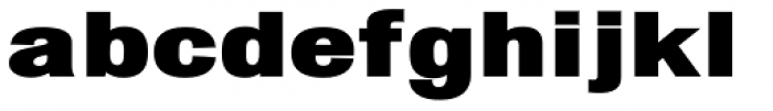 Chubbet Distended Black Font LOWERCASE