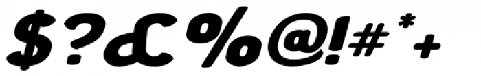 Chubbly Bold Italic Font OTHER CHARS