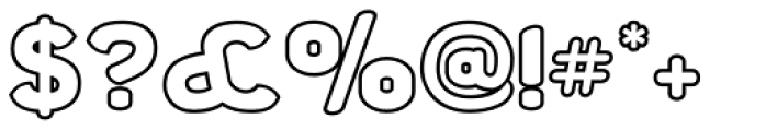 Chubbly Outline Font OTHER CHARS