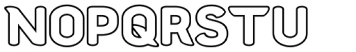 Chubbly Outline Font UPPERCASE
