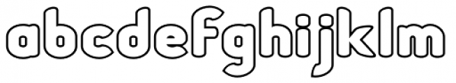 Chubbly Outline Font LOWERCASE