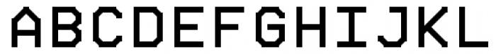 Chunkfeeder Regular Font UPPERCASE