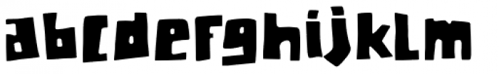 Chunky Chicken Font LOWERCASE
