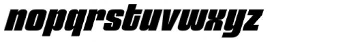 Churchward 69 Extra Bold Italic Font LOWERCASE