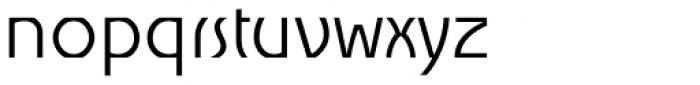 Churchward Alien Light Font LOWERCASE
