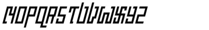 Churchward Asia Italic Font UPPERCASE