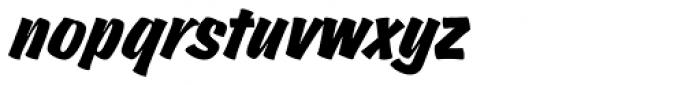 Churchward Brush D Italic Font LOWERCASE