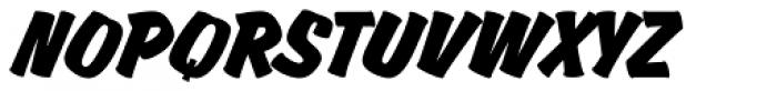 Churchward Brush Italic Font UPPERCASE