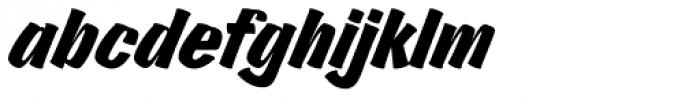 Churchward Brush Italic Font LOWERCASE
