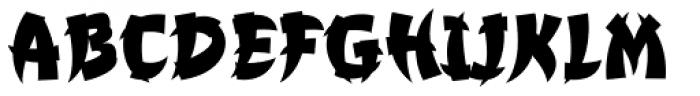 Churchward Chinatype Ex Bold Font UPPERCASE