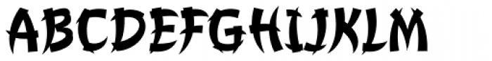 Churchward Chinatype Medium Font UPPERCASE