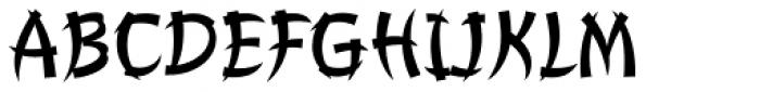 Churchward Chinatype Font UPPERCASE