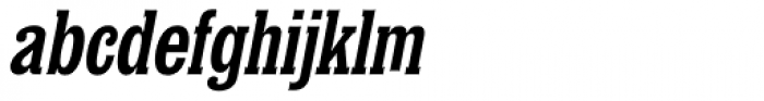 Churchward Conserif Italic Font LOWERCASE