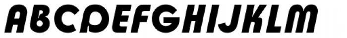 Churchward Design Bold Italic Font UPPERCASE