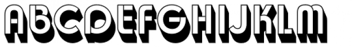 Churchward Design Rev Shadow Font UPPERCASE