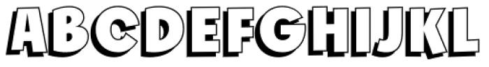 Churchward Freedom LBShadow Font UPPERCASE