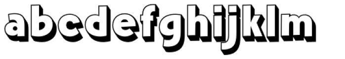 Churchward Freedom LDShadow Font LOWERCASE