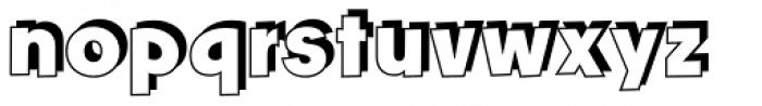 Churchward Freedom TBShadow Font LOWERCASE