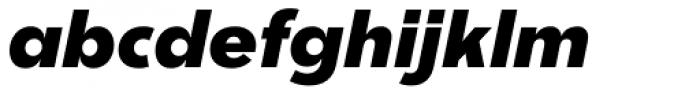 Churchward Legible ExtraBold Italic Font LOWERCASE