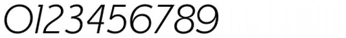Churchward Legible Light Italic Font OTHER CHARS