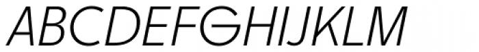 Churchward Legible Light Italic Font UPPERCASE