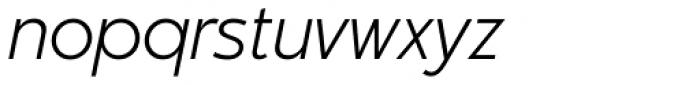 Churchward Legible Light Italic Font LOWERCASE