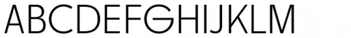 Churchward Legible Light Font UPPERCASE