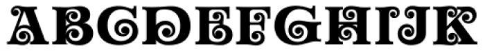 Churchward Maori Bold Font UPPERCASE