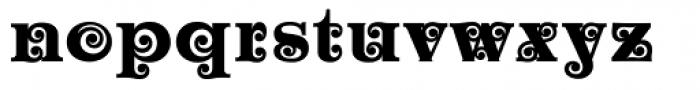 Churchward Maori Bold Font LOWERCASE