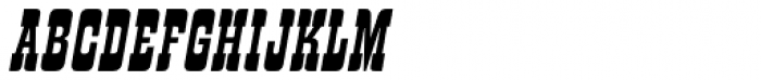 Churchward Tua Italic Font UPPERCASE