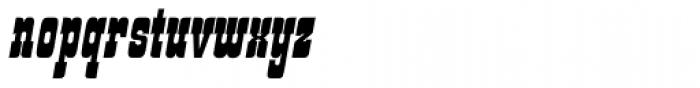 Churchward Tua Italic Font LOWERCASE