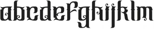 Cindo Kato otf (400) Font LOWERCASE