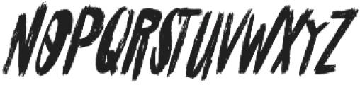Cinesta Slant Regular Slant otf (400) Font UPPERCASE