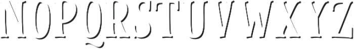 Cinnamon Peach Serif Shadow otf (400) Font UPPERCASE