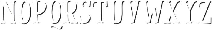 Cinnamon Peach Serif Shadow otf (400) Font LOWERCASE