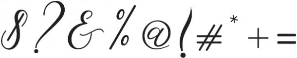 Cintya Script otf (400) Font OTHER CHARS