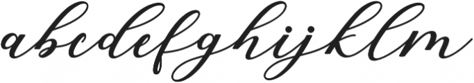 Cintya Script otf (400) Font LOWERCASE