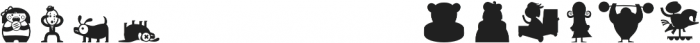 Citronela DingbatsFreeDemo otf (400) Font LOWERCASE
