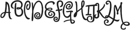 Citronela Display2 otf (400) Font UPPERCASE