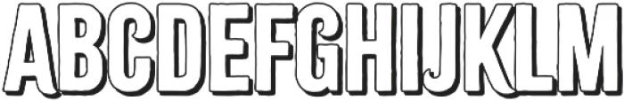 Citrus Gothic Shadow otf (400) Font UPPERCASE