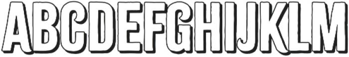 Citrus Gothic Shadow otf (400) Font LOWERCASE