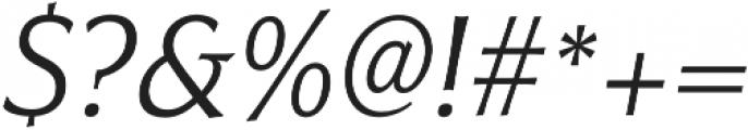 Civane Cond Light Italic otf (300) Font OTHER CHARS